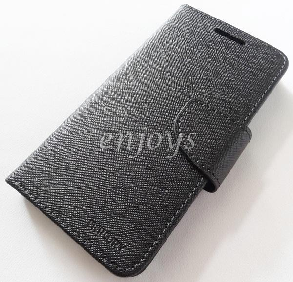 ORI MERCURY Fancy Diary Case Cover Lenovo A6000 /A6000 Plus BLACK *XPD