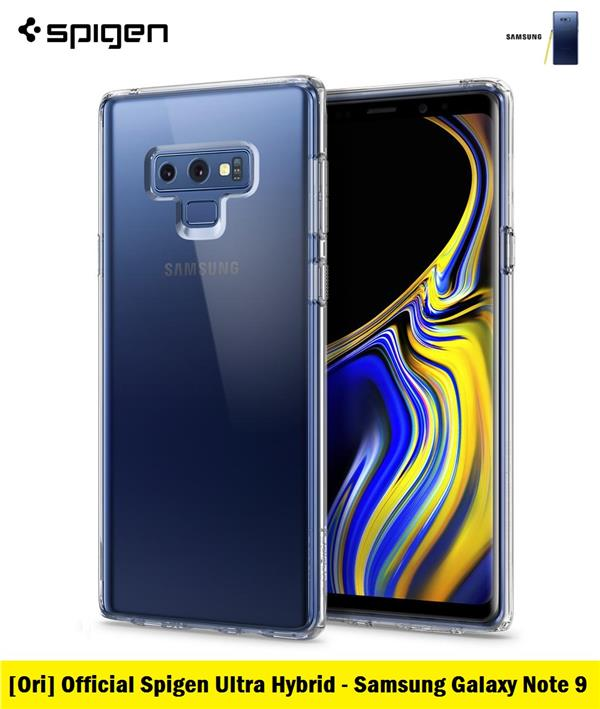 more photos ef245 b256c [Ori] Official Spigen Ultra Hybrid for Samsung Galaxy Note 9 (Clear)