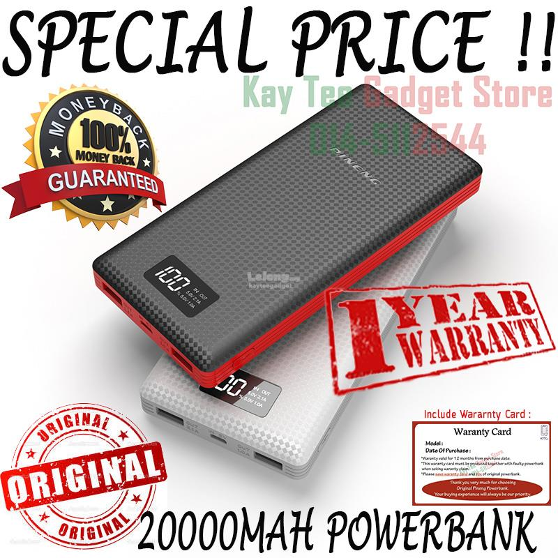 ***[ORI] PowerBank Pineng Pn969 Pn-969 20000mah Power Bank PN 969 Slim