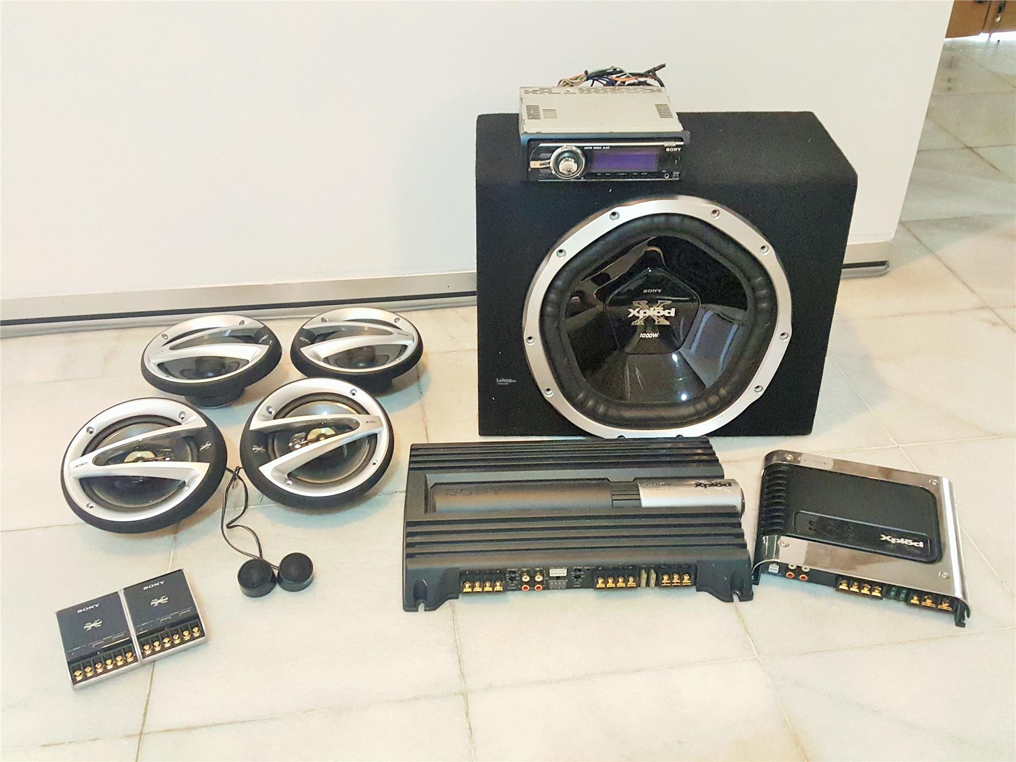 ORI Sony Car Speaker, Amplifier & Player Head Unit