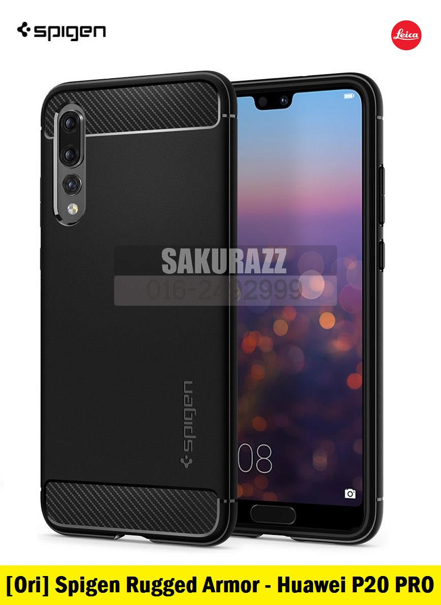 [Ori] Spigen Rugged Armor Series for Huawei P20 Pro (Black)