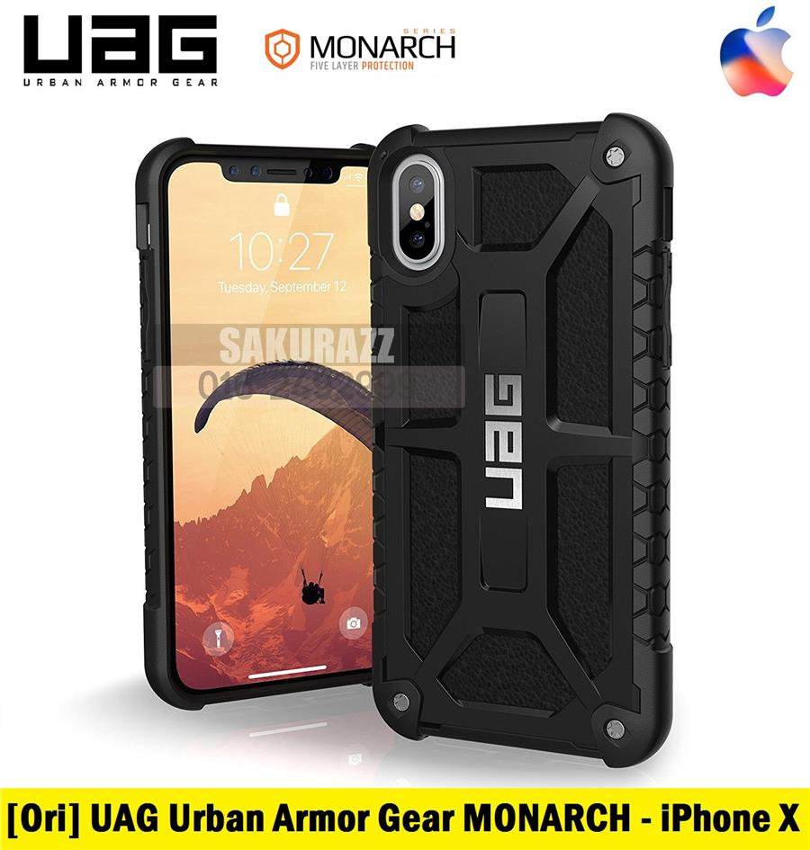 [Ori] UAG iPhone X MONARCH Rugged Double Military Case (Black)