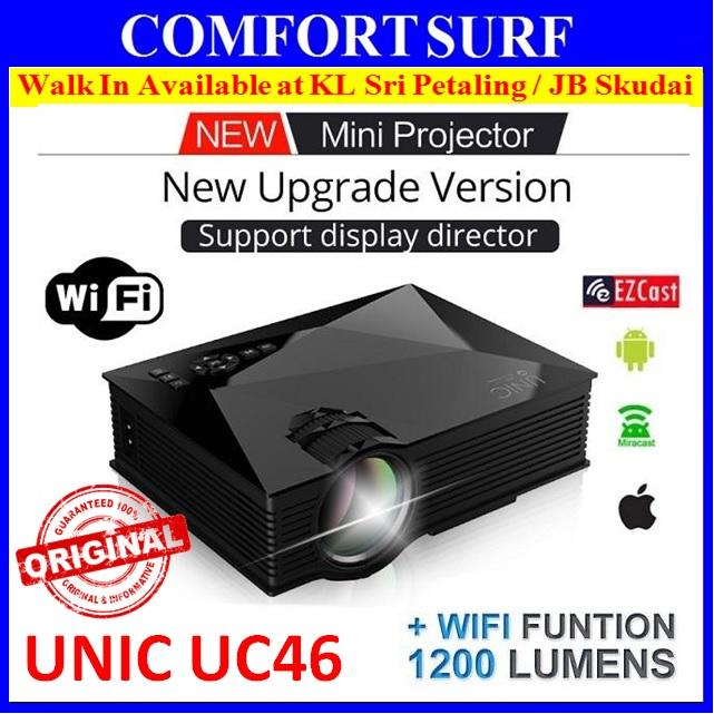 ORI UNIC UC46 Mini LED HD Projector Built In WIFI DISPLAY 1200 Lumens