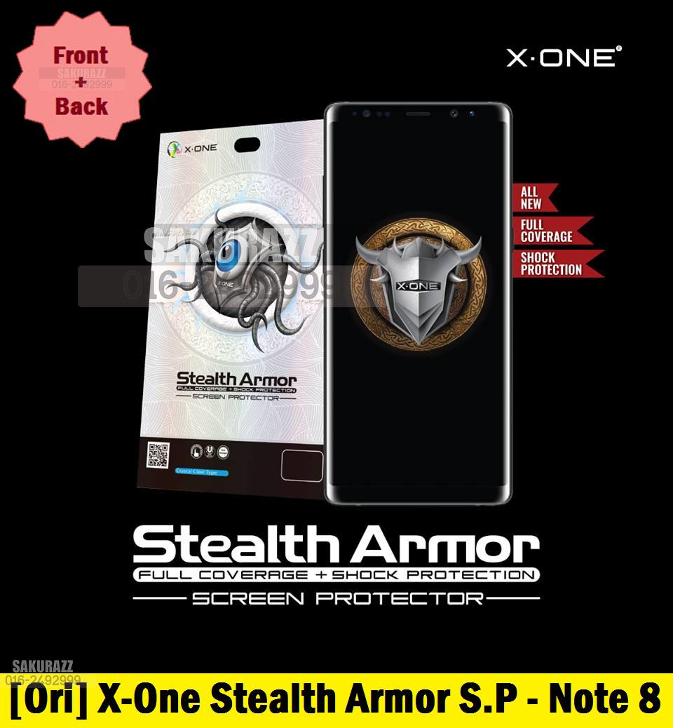 [Ori] X-One Front+Back Stealth Armor Enhanced Screen Protector Note 8