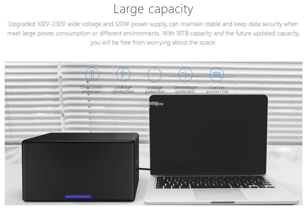 "ORICO 3.5"" 8 Bay USB3.0 Hard Drive Enclosure (NS800U3)"