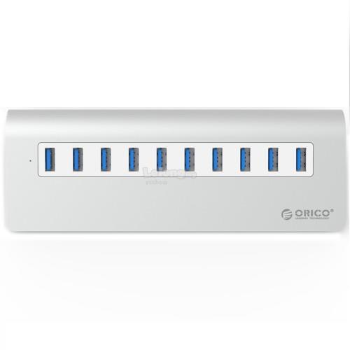 ORICO Aluminum 10 Port USB 3.0 Hub with Adapter (M3H10)