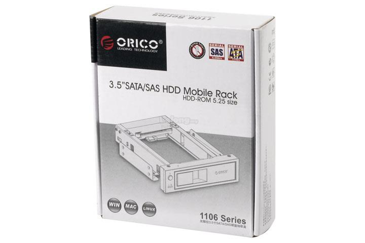 ORICO HOTSWAP 3.5' HDD MOBILE RACK (1106SS-BK)