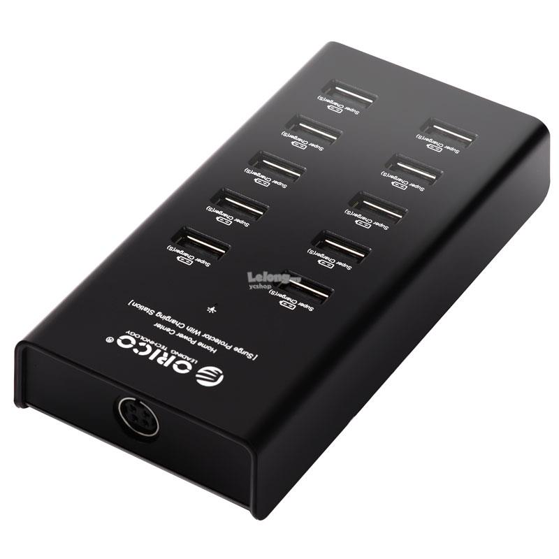 ORICO SMART POWER CENTER 10 PORT 2.4A CHARGER (DUB-10P-BK)