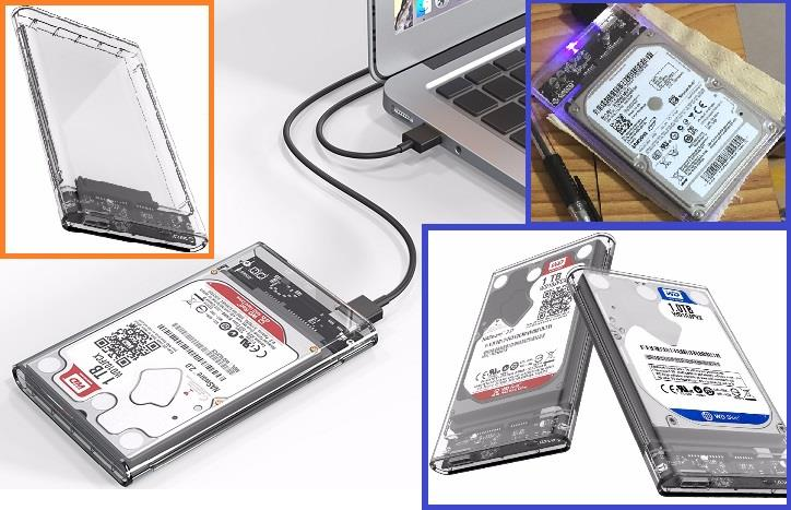6a50015e27ab ORICO Transparent external HDD Case 2.5 inch USB3.0 support UASP