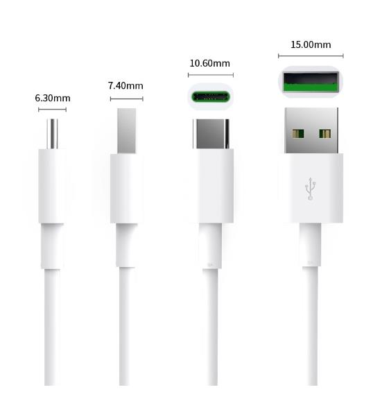ORICO TYPE C TO USB 5A 1M CHARGE SYNC CABLE (ATC-10-WH) WHITE