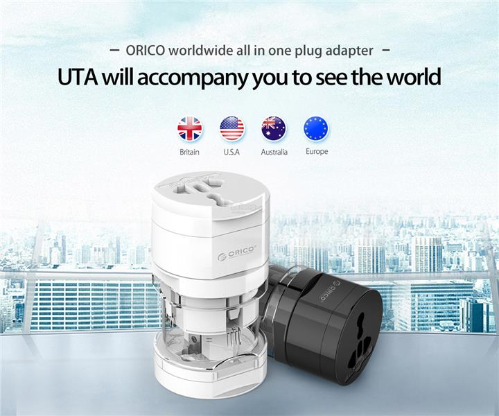 ORICO Worldwide All-in-one Plug Travel Adapter (UTA)