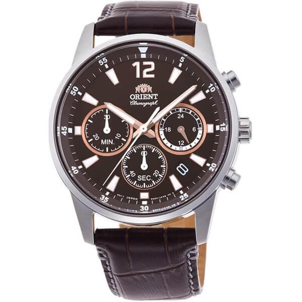 ORIENT Chronograph Quartz Brown Leather RA-KV0006Y10B RA-KV0006Y