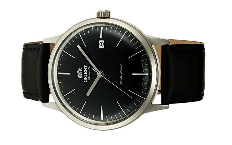 ORIENT Men Automatic 2nd Generation Bambino V3 Leather Watch FAC0000DB