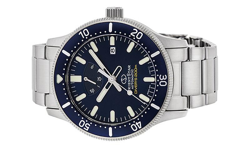 ORIENT STAR Men Mechanical Stainless Steel Diver Date Watch RE-AU0302L