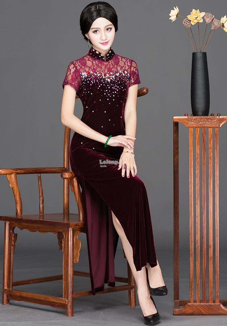 Oriental 2019MY – Lacey Bling Cheongsam for women