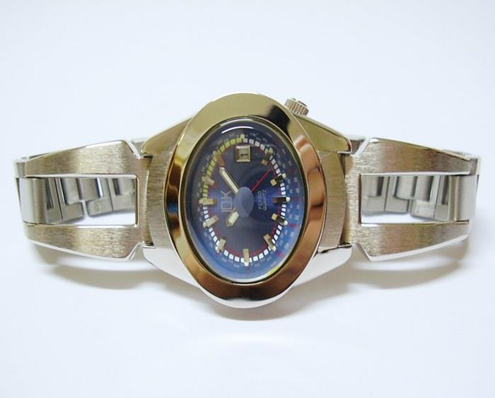 Original 10:K Wrist Watch Classic Date Japan Movement Lady Blue