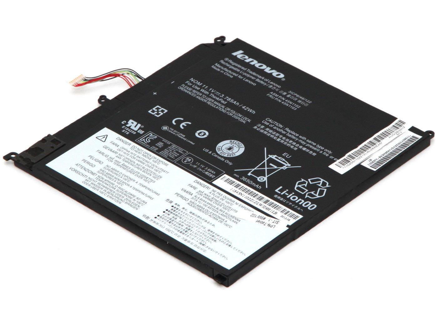 Original 45N1102-45N1103 Lenovo ThinkPad X1 Helix Battery