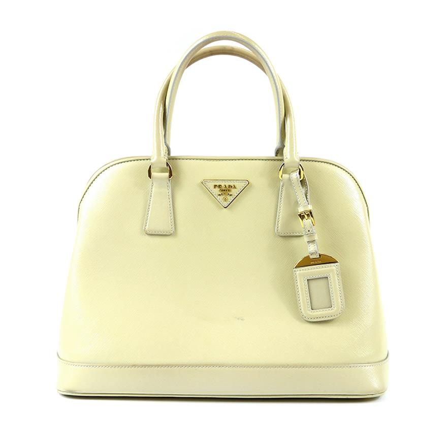 Original 9 8 10 Condition Prada Las Handbag Sling Bag Light Beige