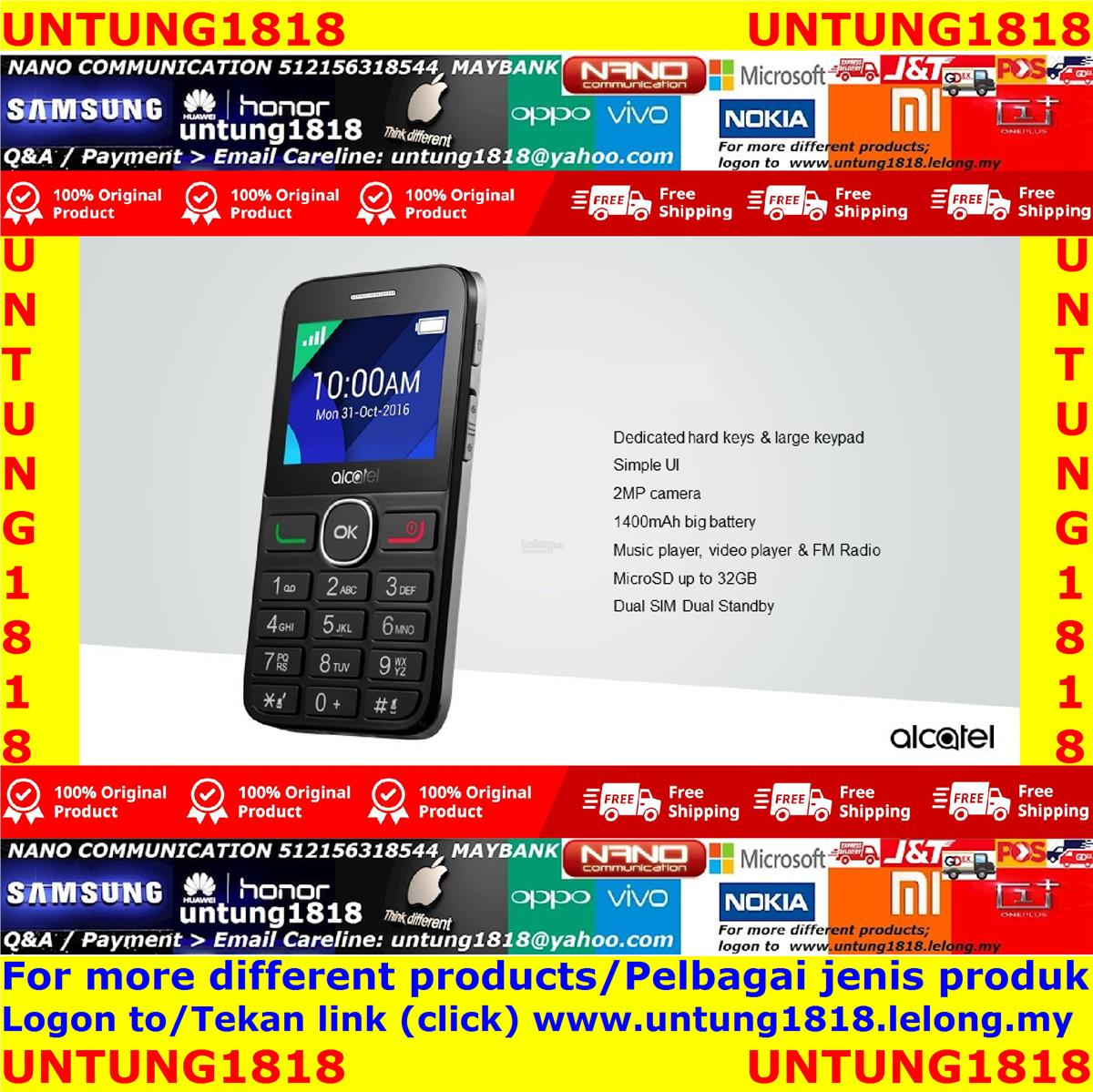 ORIGINAL_Alcatel 2008D Senior Citizen Cellphone Tiger XTM 2080D
