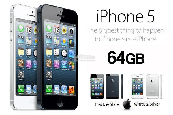 Original APPLE iPhone 5 64GB Black   White New IMPORTED Seal Pack. ‹ › ced75cf181
