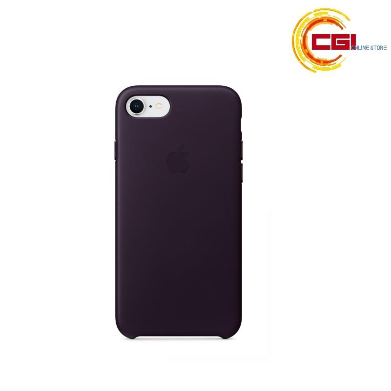 separation shoes 70976 7f0c3 (Original) Apple iPhone 8 Leather Case - Dark Aubergine (MQHD2FE/A)