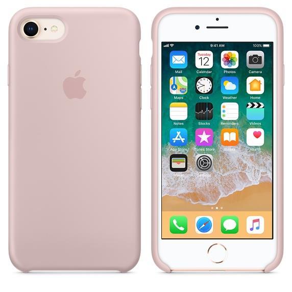 eff67e39a86 (Original) Apple iPhone 8 Silicone Case - Pink Sand (MQGQ2FE/A)