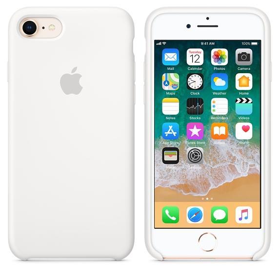 (Original) Apple iPhone 8 Silicone Case - White (MQGL2FE/A)
