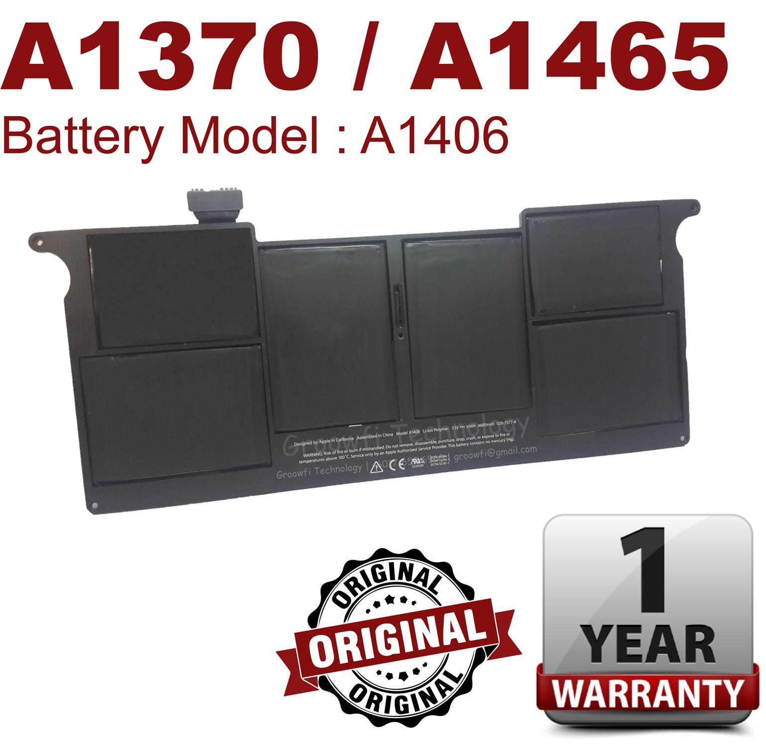 New Original Apple MacBook Air 11'inch 2011 2012 A1370 A1465 Battery