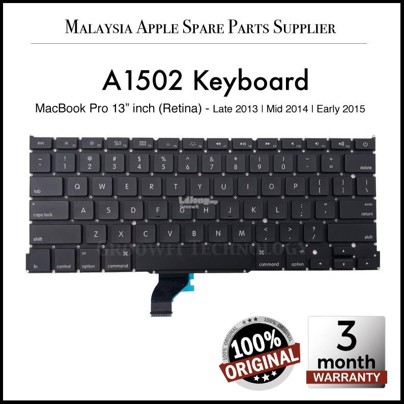 Original Apple MacBook Pro 13'inch A1502 2013 2014 2015 US Keyboard