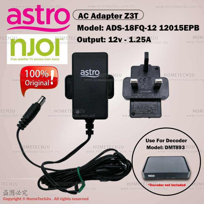 ORIGINAL ASTRO BEYOND NJOI AC POWER ADAPTER ADS-18FQ-12 12015EPB (12V