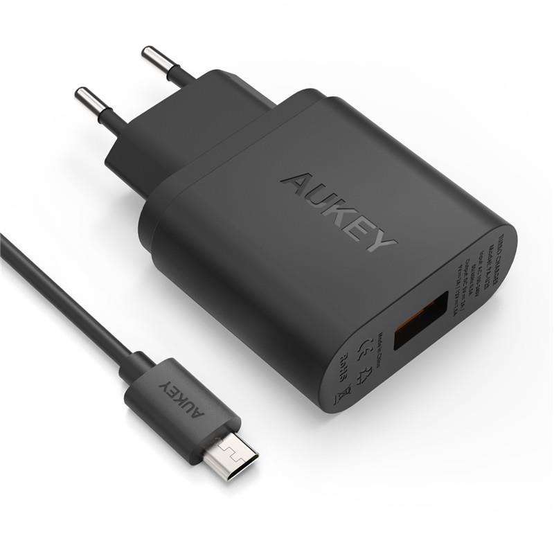 iphone quick charge. original aukey quick charge 2.0 charger s7 note iphone 7 p10 mate 9 r