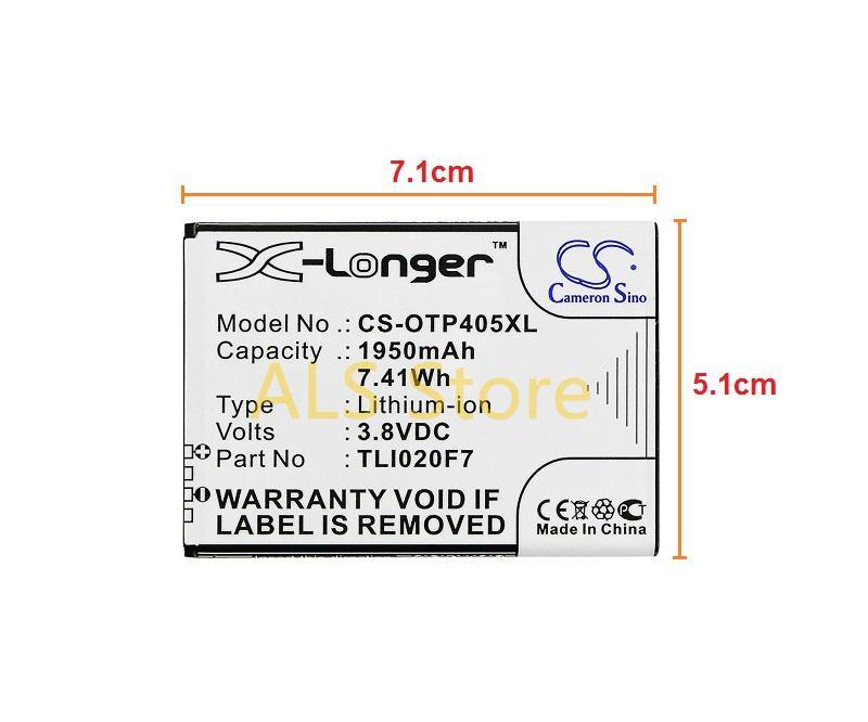 ORIGINAL Battery ALCATEL ONE TOUCH PIXI 4 5 0 4G LTE OT-5045 TLi020F7