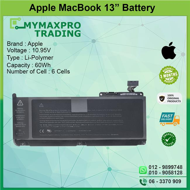 NEW ORIGINAL Battery Apple Macbook 13.3' MC207LL/A MC516LL/A A1331