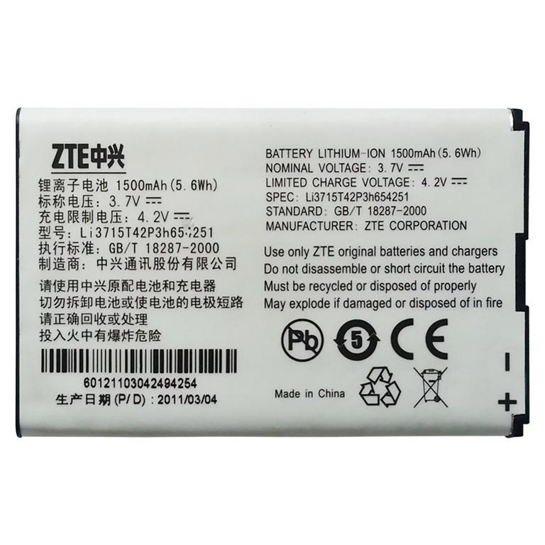 ORIGINAL Battery Li3715T42P3H654251 ZTE MF65 MF60 MF61 MF62 AC30 AC33