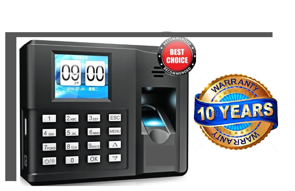 ORIGINAL BIOMETRIC FINGERPRINT TIME ATTENDANCE MACHINE( 10 YRS WARANTY