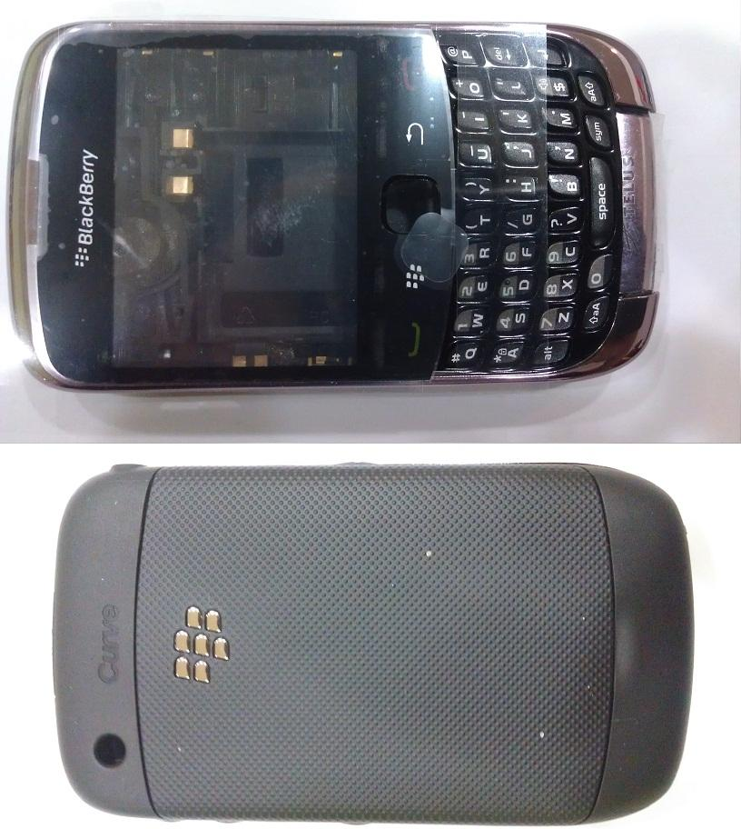 ORIGINAL BLACKBERRY CURVE 3G BLACK COMPLETE HOUSING.