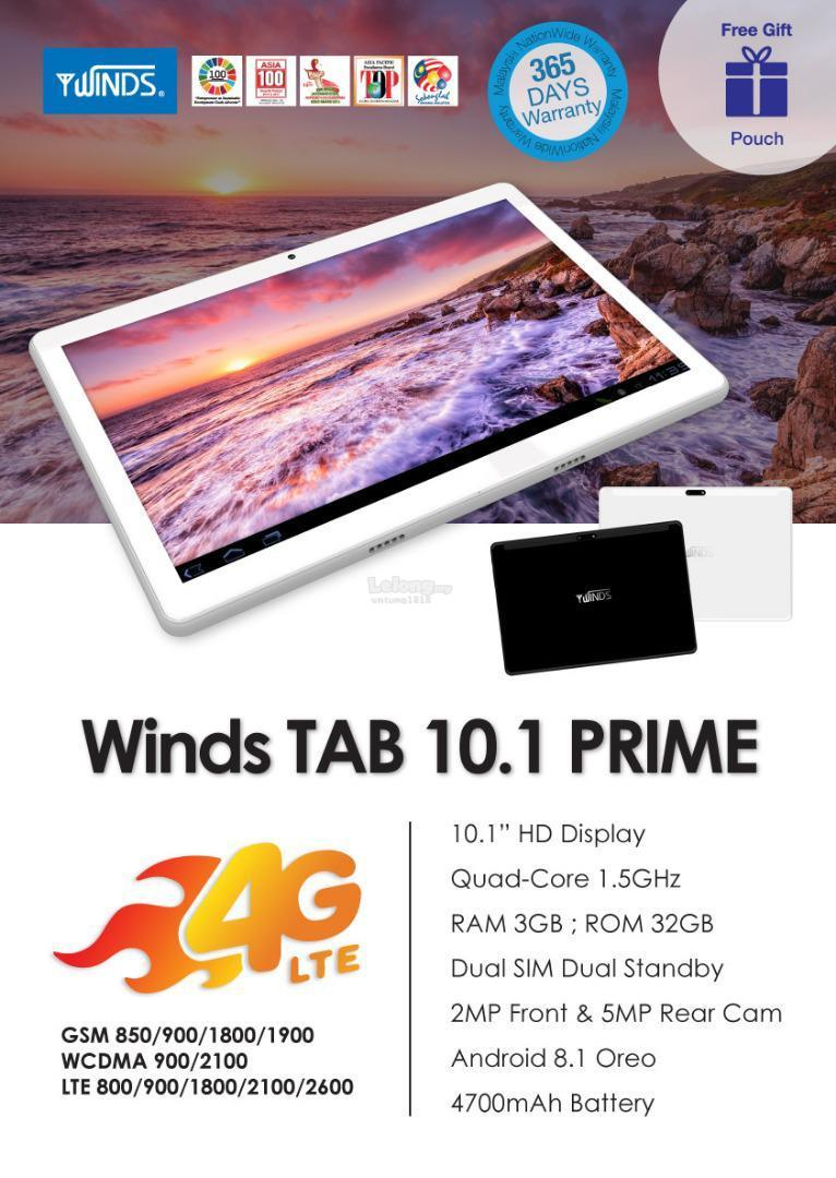 ORIGINAL A Brand By Malaysia.4G Android Tab 10.1 Prime 32 GB/3 GB RAM
