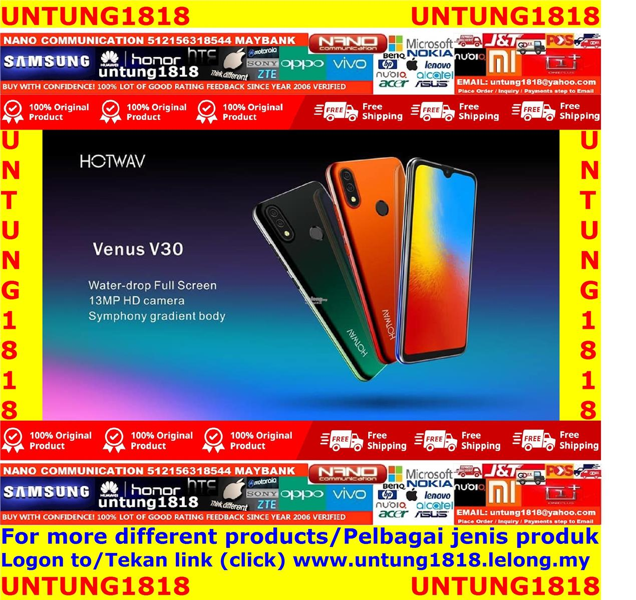 ORIGINAL A Brand By Malaysia.Venus V30 5.71inch Android Smartphone