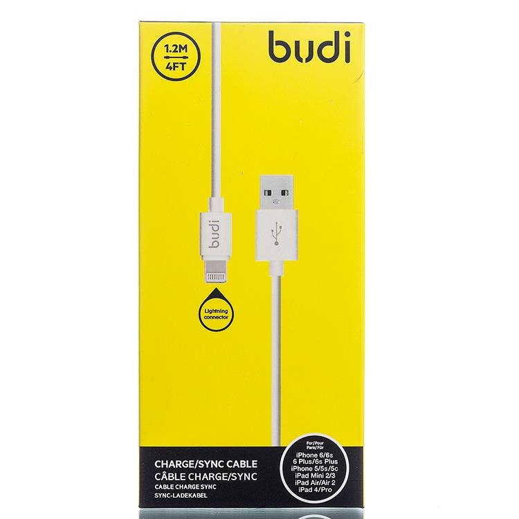 ORIGINAL budi M8J023 1.2m Durable Fast Charging Cable iPhone 8 7 Plus