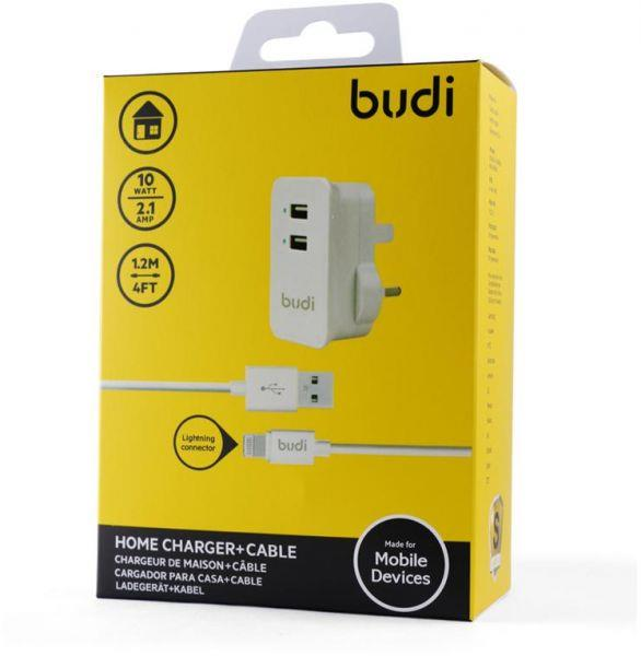 ORIGINAL budi M8J053U Dual USB Charger with 1.2m Cable iPhone X 8 7 6S
