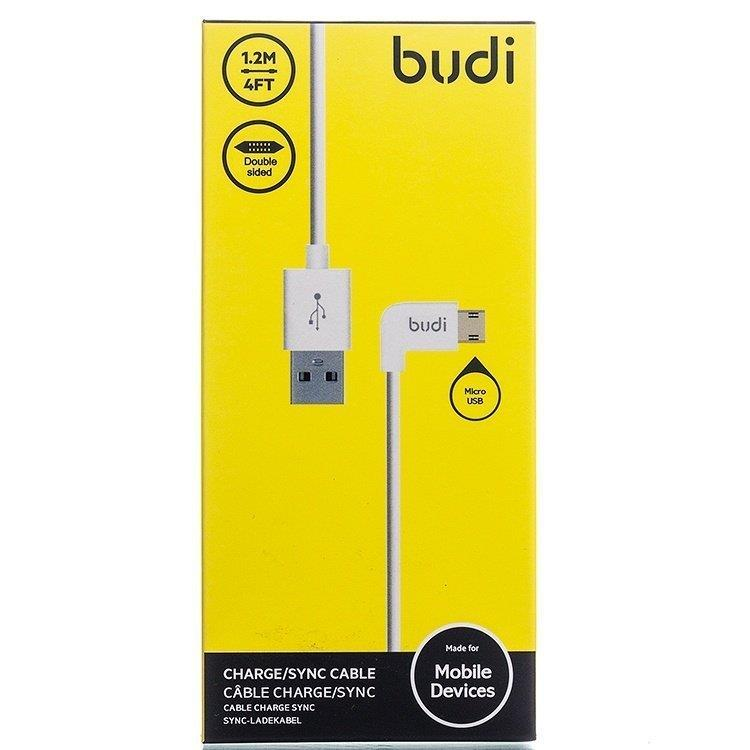 ORIGINAL budi M8J147M 1.2m Durable Micro USB L-Shape Cable Fast Charge