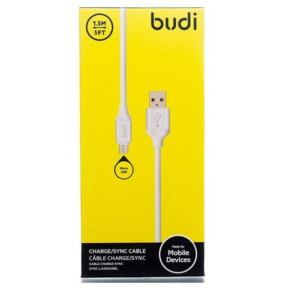 ORIGINAL budi M8J173 1.5m Durable Fast Charging 2.4A USB Cable ~WHITE
