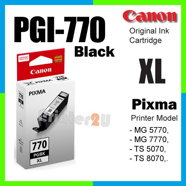 Original Canon Inkjet Ink Cartridge PGI-770 BK XL Black MG7770 MG 7770