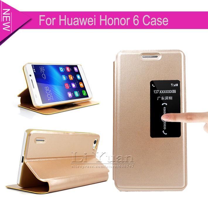 the latest 77e9c e6afb Original Case Huawei Honor 6 S View Flip Cover Leather Case