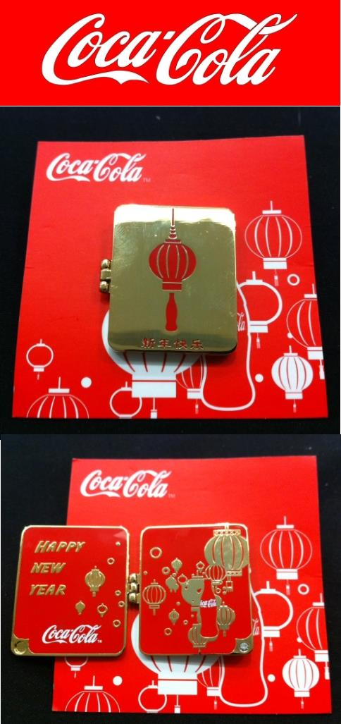 Original Coca Cola Chinese New Year Badge 2 - Collector item