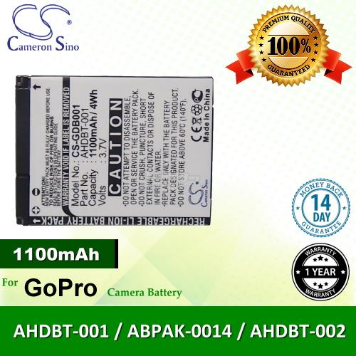 Original CS GDB001 GoPro AHDBT-001 ABPAK-0014 AHDBT-002 Camera Battery