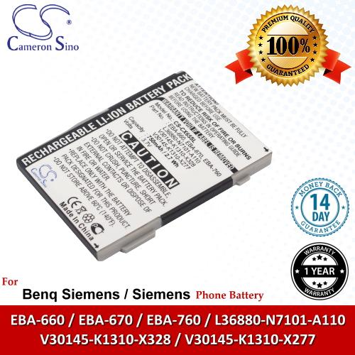 Original CS Phone Battery CX65SL Siemens CXV65 CXV70 CXI70 M65 M75