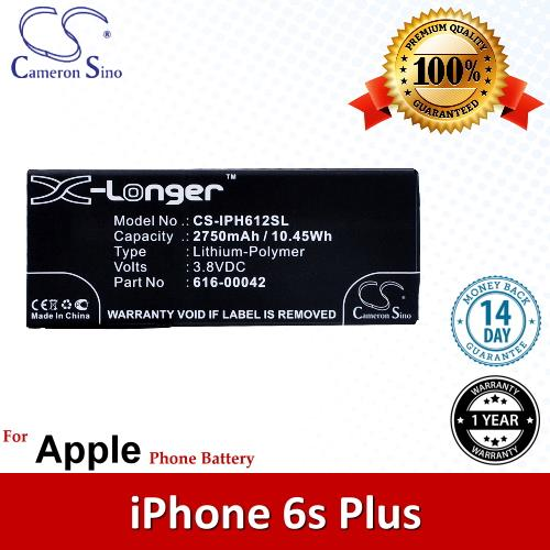 Original CS Phone Battery IPH612SL Apple iPhone 6s Plus A1634 A1687