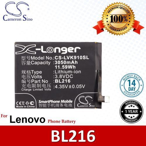 Original CS Phone Battery LVK910SL Lenovo Battery Model BL216 BL-216