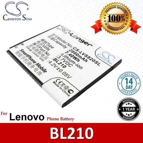 Original CS Phone Battery LVS820SL BL210 BL-210 Lenovo A656 A658T. ‹ ›